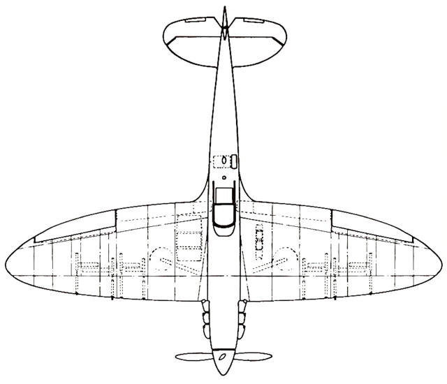 Concise Guide To Spitfire Wing Types \u2014 Variants Technology Referencerhspitfiresite: Spitfire Airplane Schematics Or Drawings At Gmaili.net