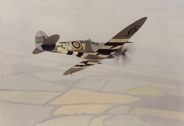 Spitfire Mk XIVc, 1/72 scale from ACADEMY kit